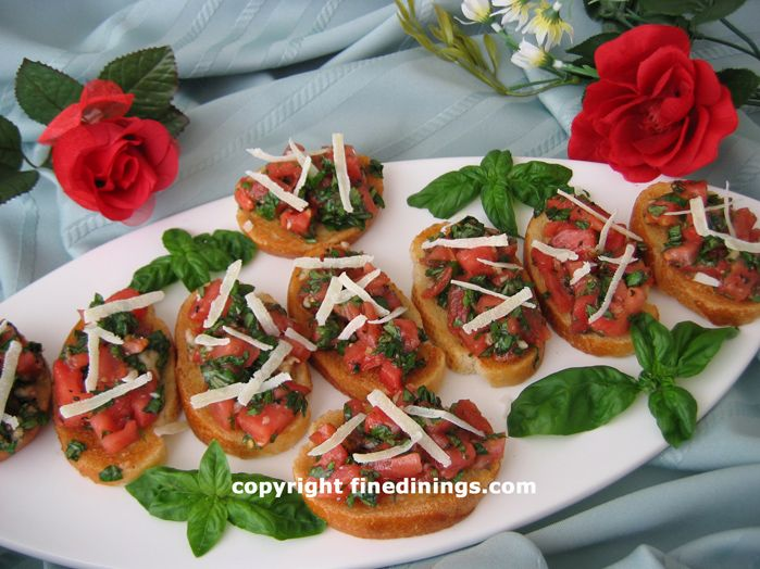 Tomato Basil Crostini Appetizer | Appetizers and Starters | Pinterest