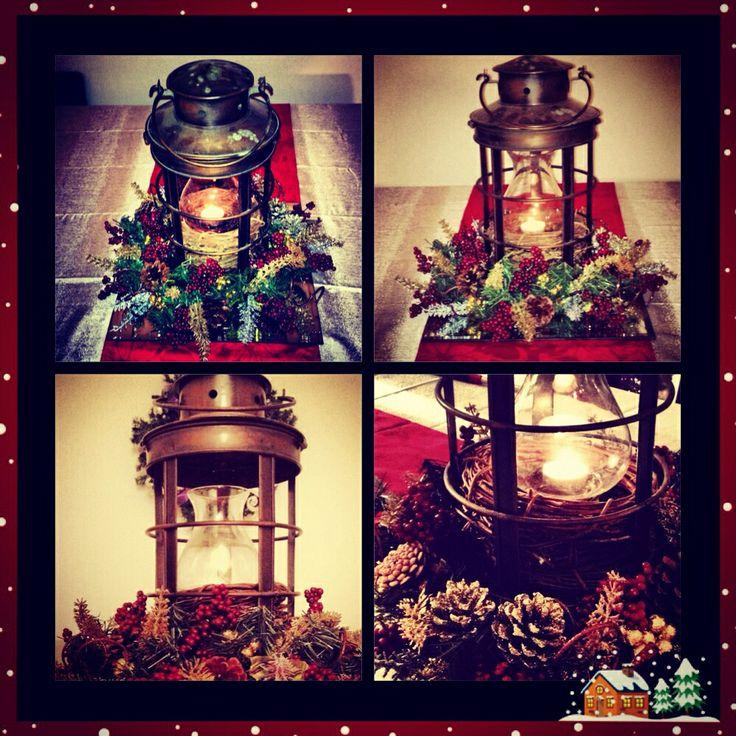 Lantern christmas centerpiece i love lanterns pinterest