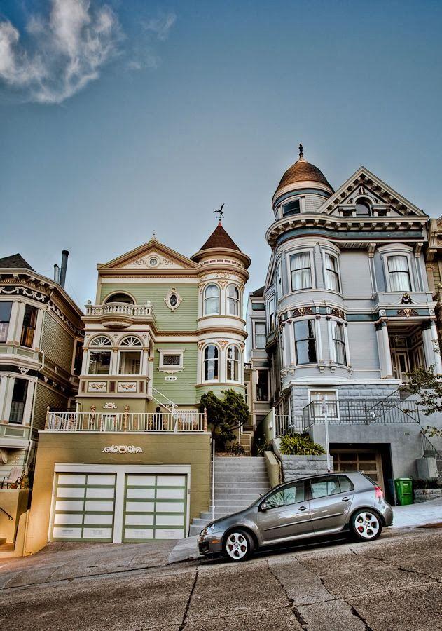 Victorian homes in san francisco ca favorite places for San francisco victorian houses