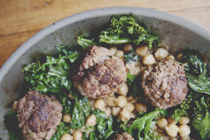 Lamb Meatballs Over Chickpeas, Kale & Cous Cous - The Juice | Club W