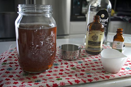 Homemade amaretto, who knew you could do this