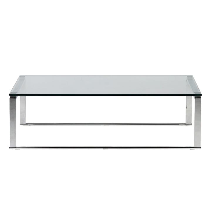 table basse de salon en verre et chrome coming 195 EUROS