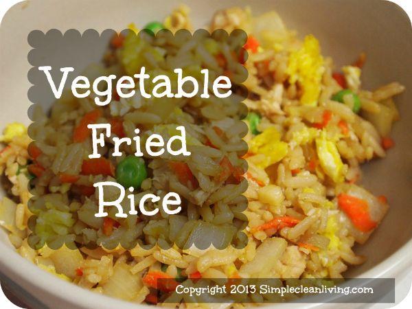 Vegetable Fried Rice | Food | Pinterest