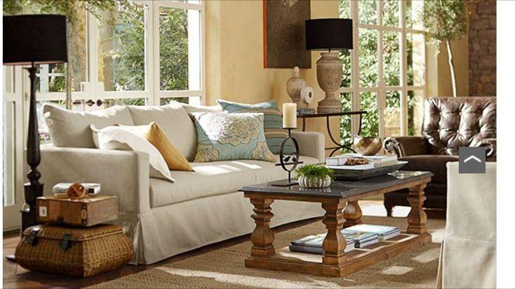 Pottery Barn Living Room Home Pinterest