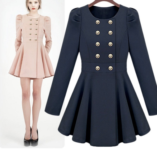... Breasted Trench Coat cum Dress for Women. $95.00, via Etsy. LOVE