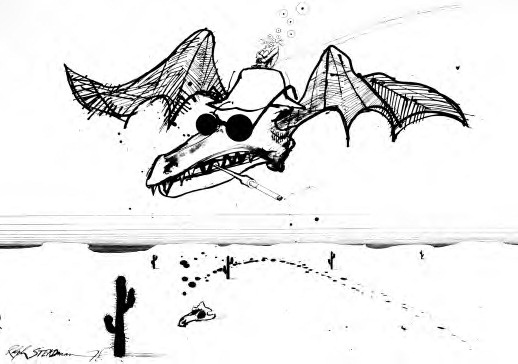 Ralph Steadman: fear, loathing, and the bats.   RED art ...