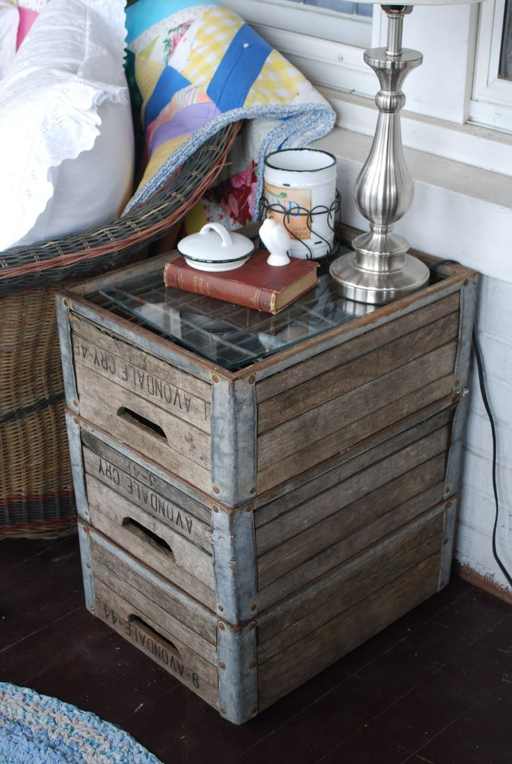 Diy Wood Crate Side Table | Search Results | DIY Woodworking Projects