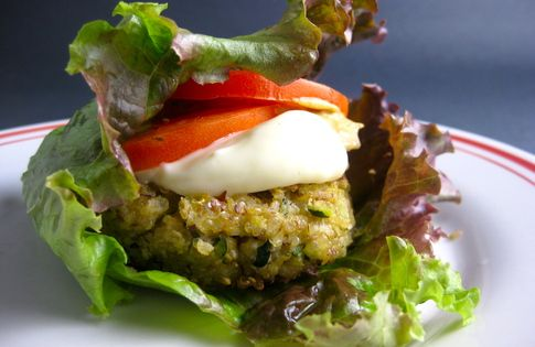 ... topping makes a burger a burger for you start with cooked quinoa