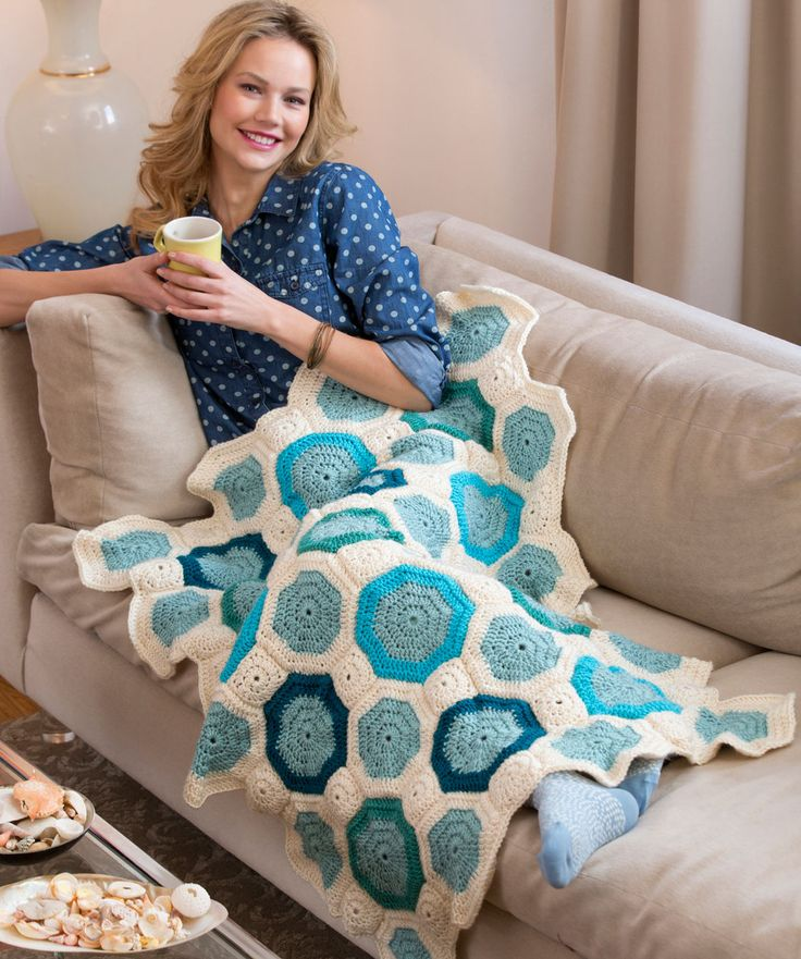 Free Crochet Mosaic Afghan Pattern : Mosaic Throw Free Crochet Pattern Happy Hooker Pinterest