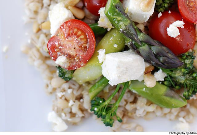 Asparagus, broccolini and barley salad « Cooking Blog – Find the ...