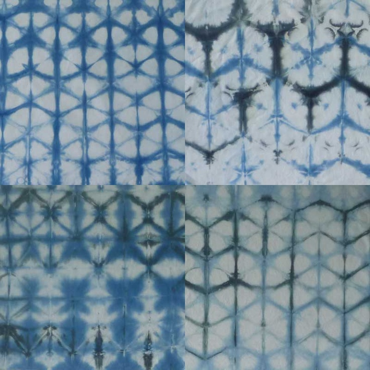 Shibori Indigo Dye Fibers Pinterest
