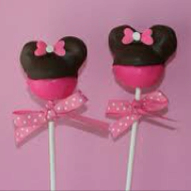 Mickey Mouse Cake Pops Tutorial Minnie Mouse Cake Pops...