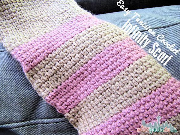 Free Tunisian Crochet Patterns : Tunisian Crochet Free Infinity Scarf Pattern MiscFinds4u