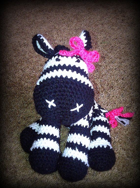 Crochet Zebra : Zebra Plush Crochet by nikkiwestcott on Etsy, $20.00