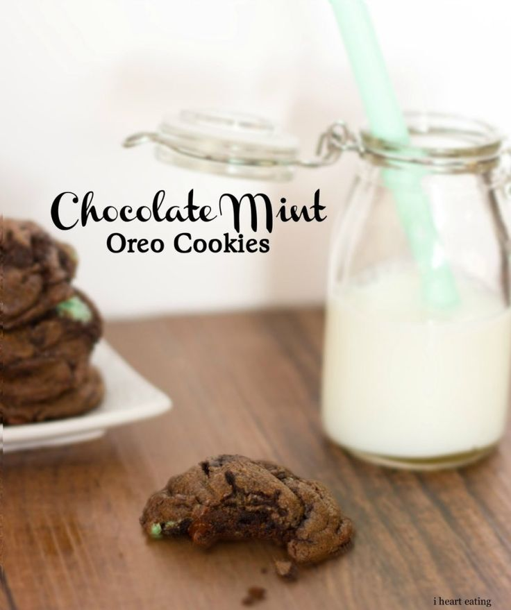 Chocolate Mint Oreo Cookies - easy make-ahead cookie dough, so there's ...