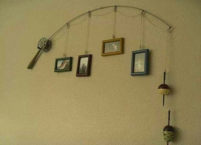 Fishing decor lake house pinterest for Fishing decorations for home