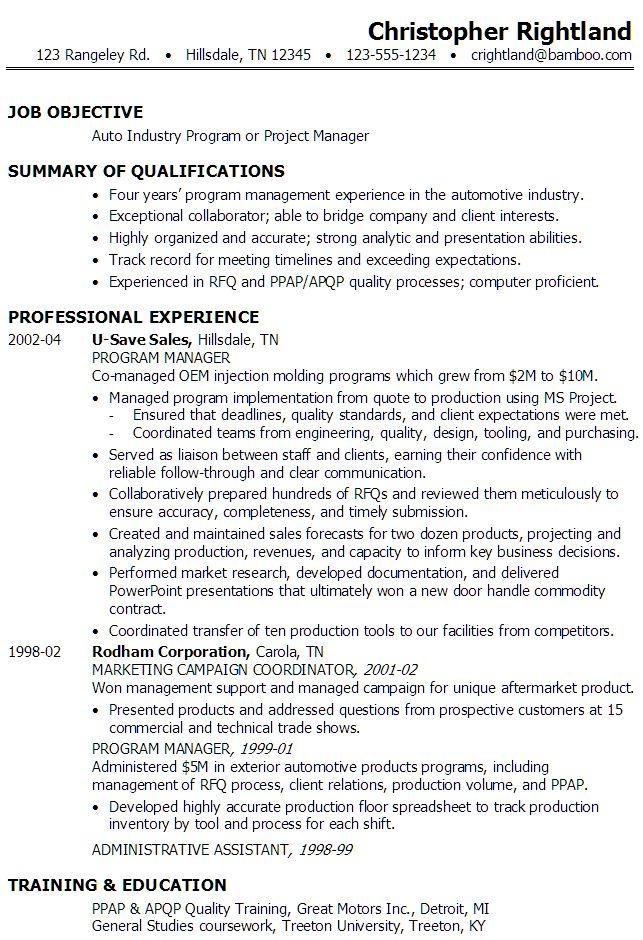 Resume For Internship Software