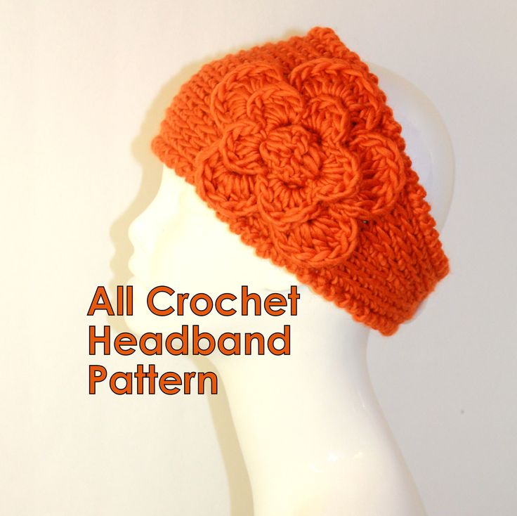 Crochet Patterns By Yarn Weight : CROCHET PATTERN - Fast Crochet Headband Kayla Bulky Weight Yarn Two S ...