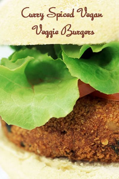 Meatless Monday with Curry Spiced #Vegan Veggie Burgers http://www ...