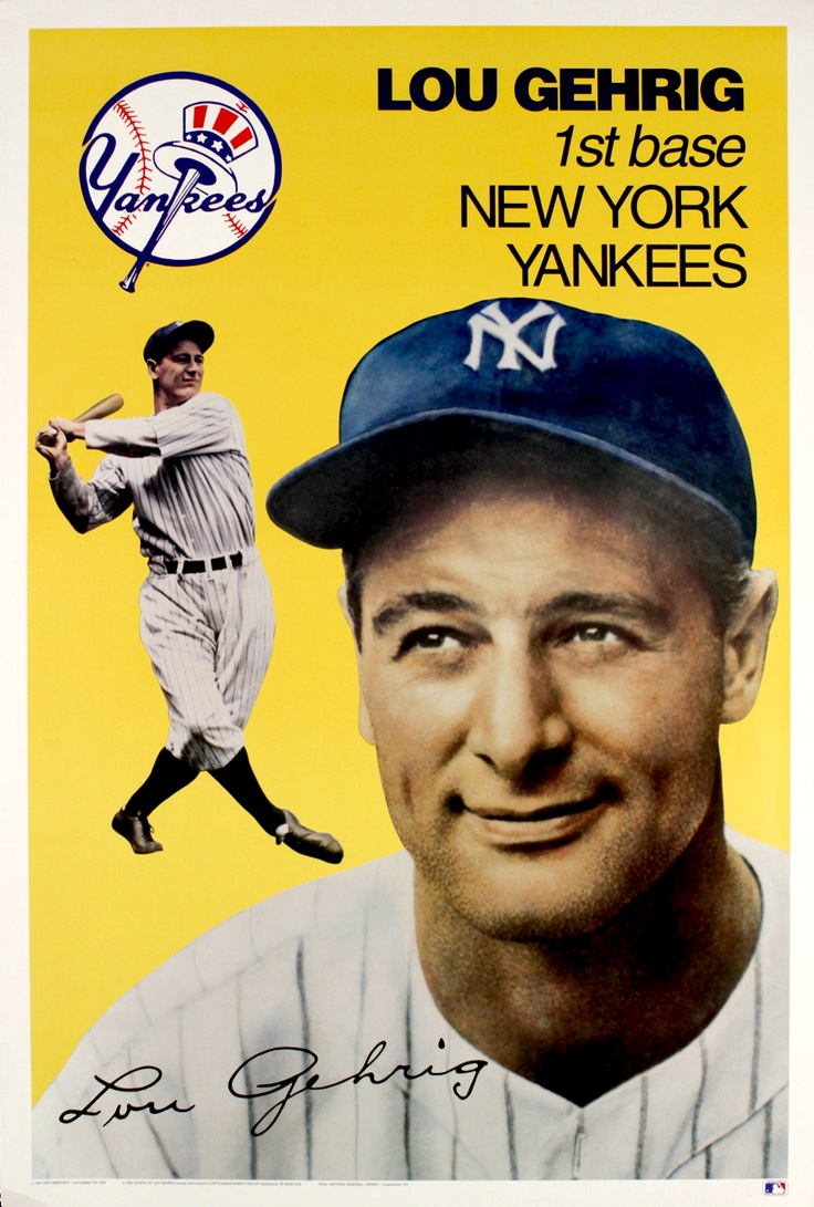 lou gehrig On july 4, 1939, lou gehrig delivered his famed luckiest man speech in front of a sold out crowd in yankee stadium check out for.