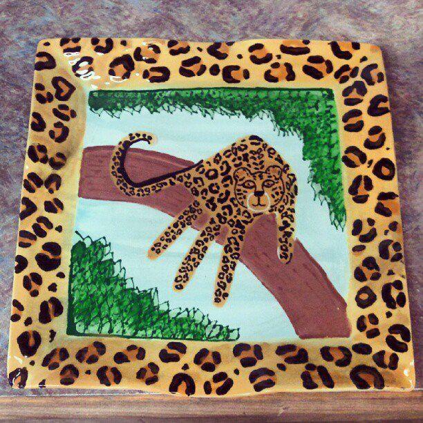 Handprint Safari Leopard On A Tree Arts Amp Craft W The