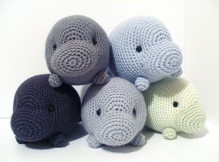 Crochet Amigurumi Manatee : Crochet Pattern: Orlando the Manatee