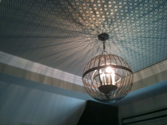 cole and son wallpaper on ceiling for the home pinterest