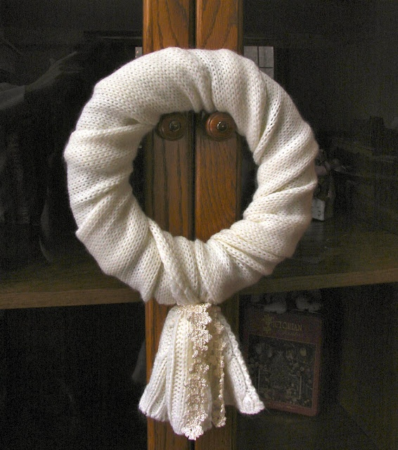 The right scarf this is the fastest and most elegant wreath ever