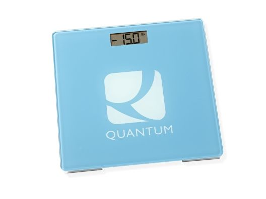 The Quantum Scale - How it works: The first time you use the scale, it registers (but does not display) your weight, storing it in the scale's memory. From that point on, the Quantum Scale only displays weight loss or gain, never your actual weight!