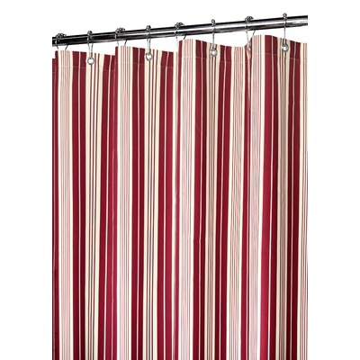 Watershed picardi stripe shower curtain in moroccan red cream