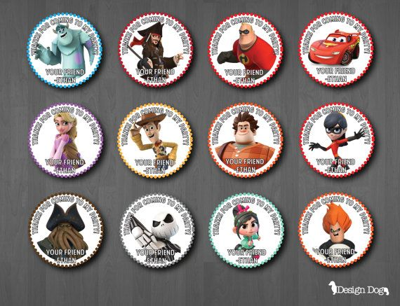 Disney Infinity Party Favor Tags by TheDesignDog on Etsy, $4.99