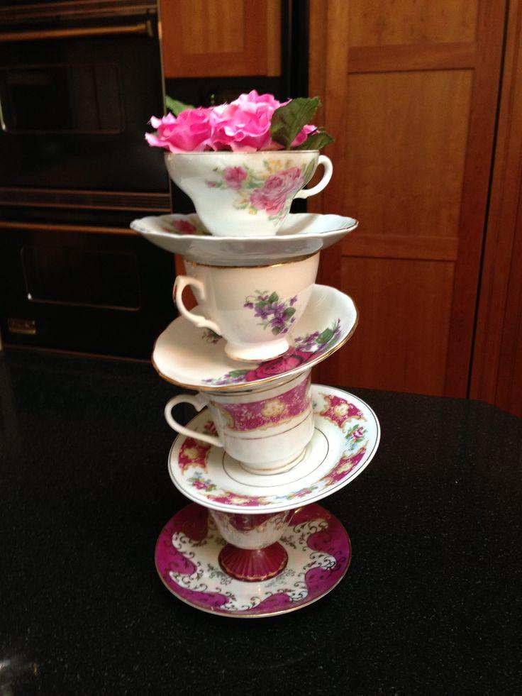 Tea party bridal shower decorations tea party bridal for Tea party decoration ideas