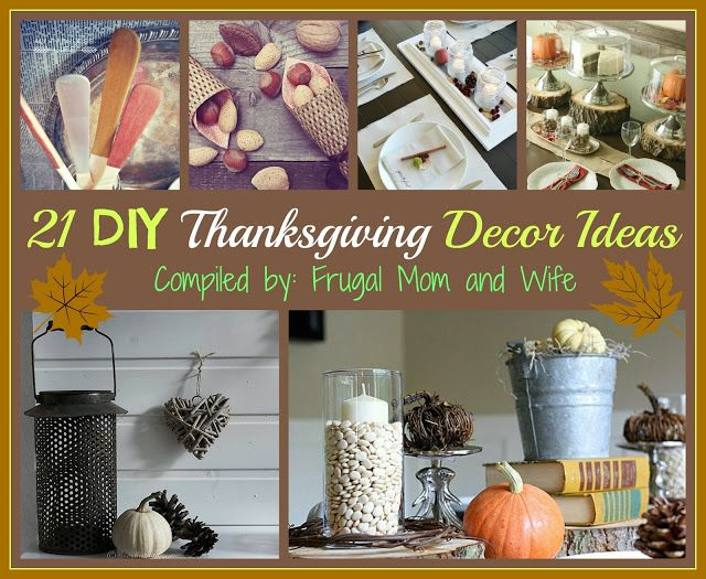 Decorating Ideas > Pin By Frugal Mom And Wife On FMW DIY Frugal  Pinterest ~ 121829_Thanksgiving Decor Ideas Diy