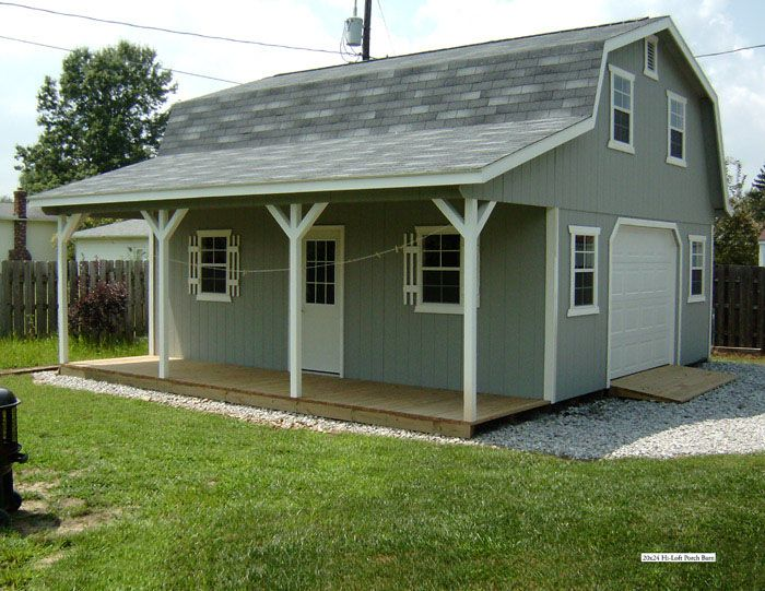 Barn with porch house garage plans pinterest for Garage plans with porch