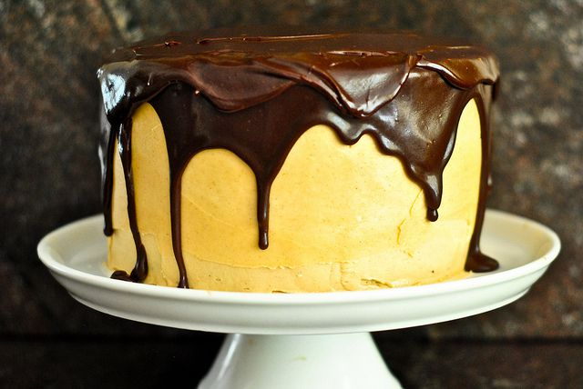 chocolate peanut butter cake by The Red Spoon, via Flickr