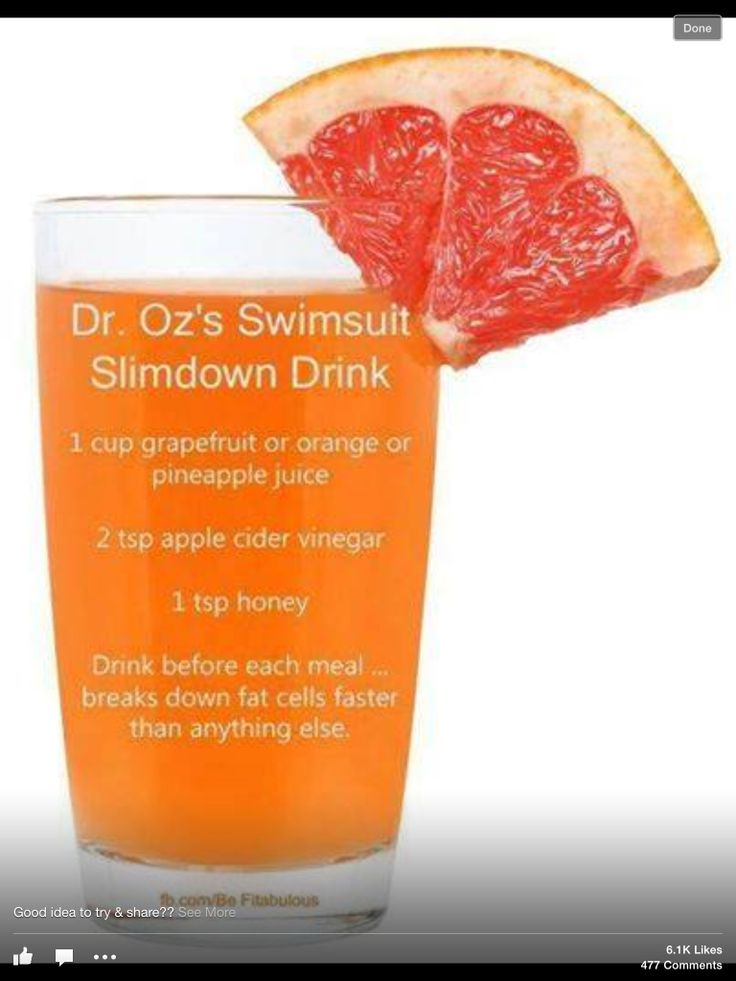 Dr oz swimsuit slimdown drink