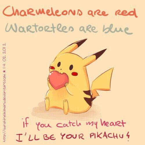 pokemon valentines day sayings
