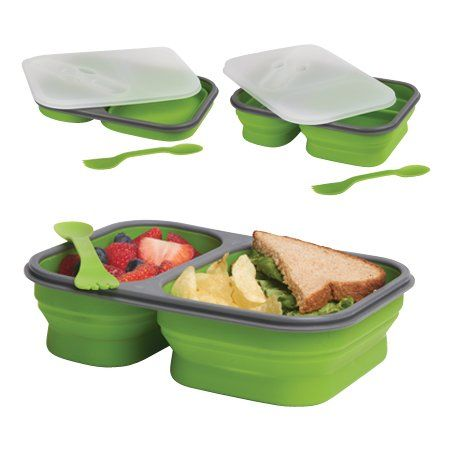 DCI Large Collapsible Lunch Box, Assorted Green and Orange Colors DCI ...