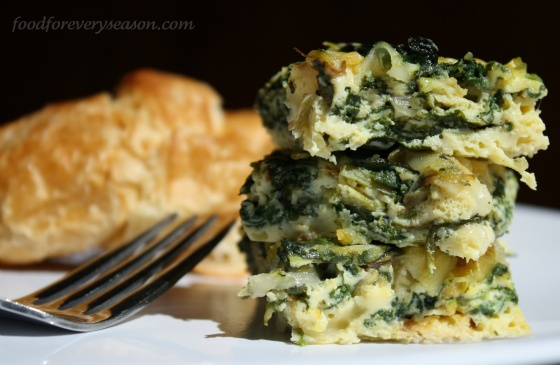 spinach & leek frittata | Breakfast | Pinterest