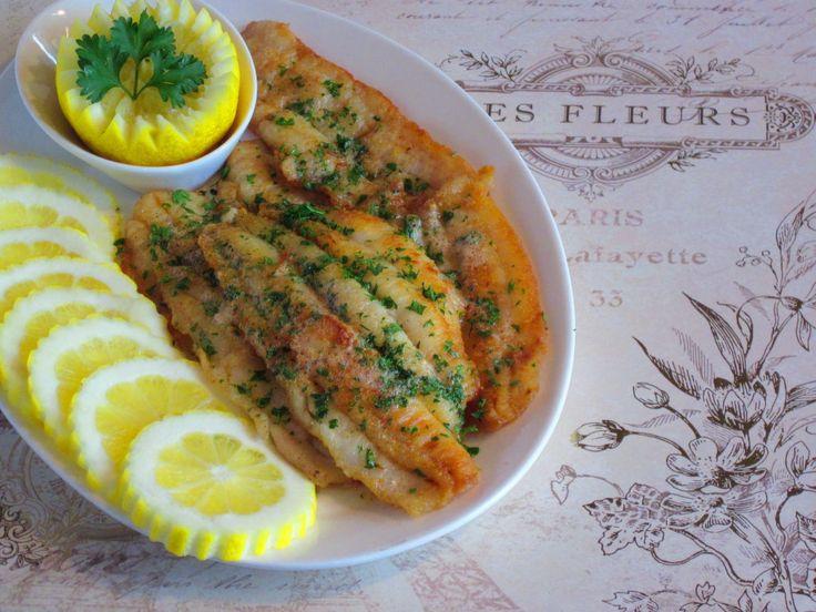 Sole Meuniere with lemon stars- I skipped the lemon stars and parsley ...