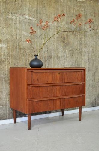 60er TEAK KOMMODE DANISH MODERN 60s CHEST CABINET SIDEBOARD HVIDT ...