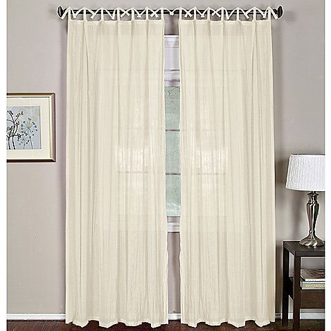 Silver Curtains And Bedding Loop Top Curtains