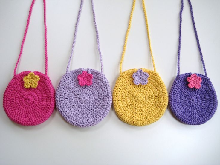 Crochet Bag Strap : PDF PATTERN Bag, round circle girls bag, crochet, long strap, cute ...