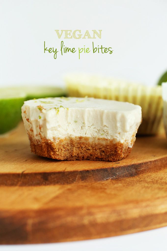 Vegan Key Lime Pie! 7 ingredients, 2 steps and SO creamy and delicious. #vegan (#glutenfree optional)