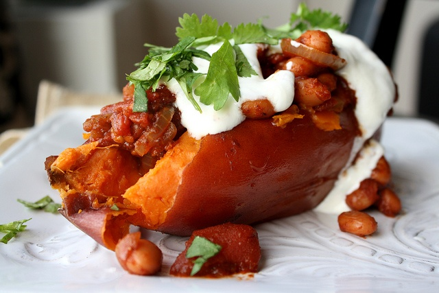 Baked Yam with Chili Beans | Food Love. | Pinterest