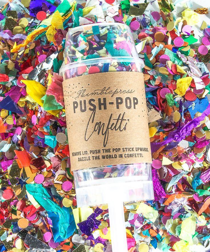 Push-Pop Confetti #party