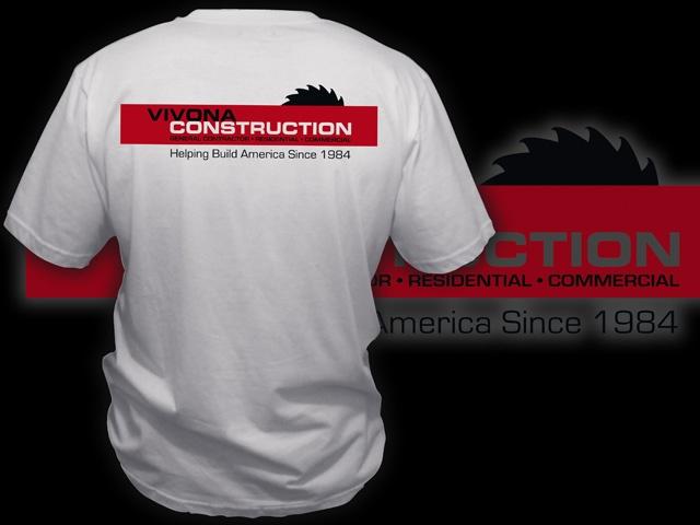 Vivona construction company shirts ax graphics for T shirt company logo