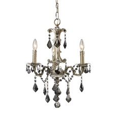 Elk lighting marseille 3 light chandelier in weathered silver