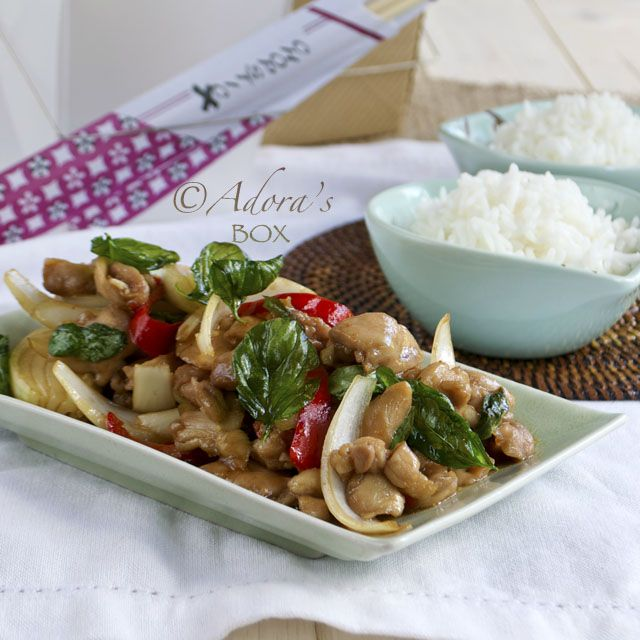 ADORA's Box: THAI STYLE STIR FRIED CHICKEN WITH BASIL