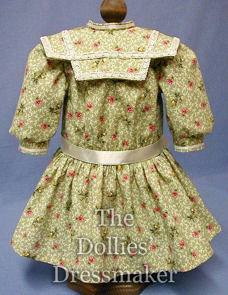 Samantha 6008C ~ Green Print Dress